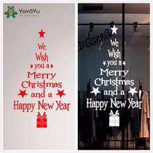 YOYOYU Wall Decal Vinyl Art Removable Merry Christmas Tree Stickers Home Window Decoration Mural YO448