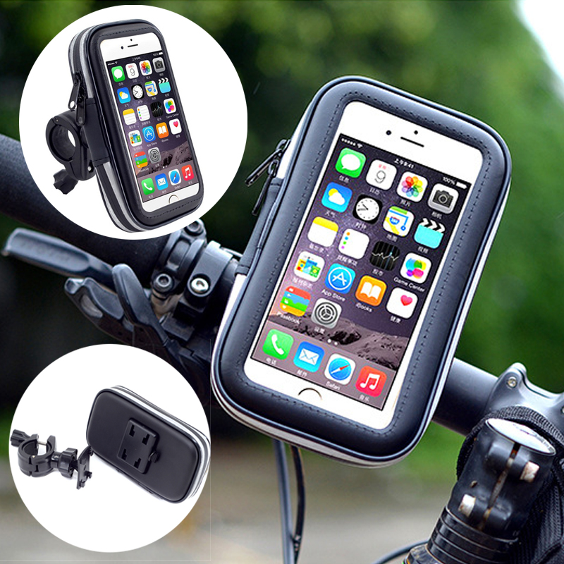 Universal Cellphone Cycling Bicycle Bike Motorcycle Handlebar Mount Holder Case Touch Screen Phone Pouch Waterproof PVC Bag