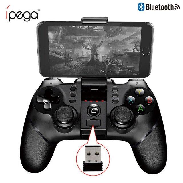 IPEGA 9076 غمبد وحدة تحكم بالألعاب عن بعد اللاسلكية 2.4G مقبض المقود آيفون X 8 7 plus سوني PS3 أندرويد وحدة التحكم