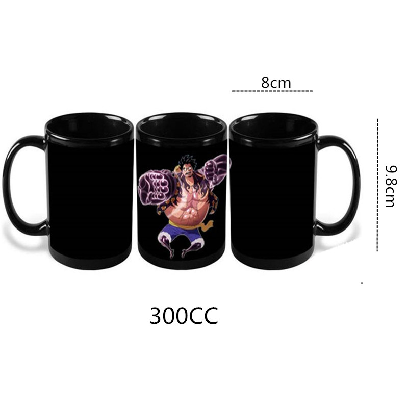 300ML Anime One Piece kafijas krūzes krāsas maiņas krūzes un - Virtuve, ēdināšana un bārs - Foto 5