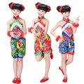 Дети Традиционный Китайский Танец Костюм Дети Национальный Выполняют Танец Боевых Искусств для Девушки танцуют Костюмы