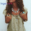 Fashion Boho Jewelry Women Colar Feminino Sweater Necklace Clavicle Chain Geometric Triangle Choker Bib Statement Necklace