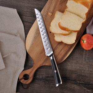 Image 5 - SUNNECKO Damascus Chef Utility Bread Paring Santoku Steak Knife Japanese VG10 Steel G10 Handle Meat Cutting Kitchen Knives Set