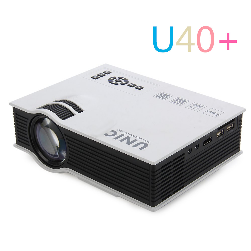 Professional UNIC UC40+ LED Projector 3D Mini Pico Portable Home Theater Beamer Multimedia Proyector Full HD 1080P Video HDMI 2015 newest original mini pico portable full hd 3d projector hdmi home theater beamer multimedia proyector full hd 1080p video