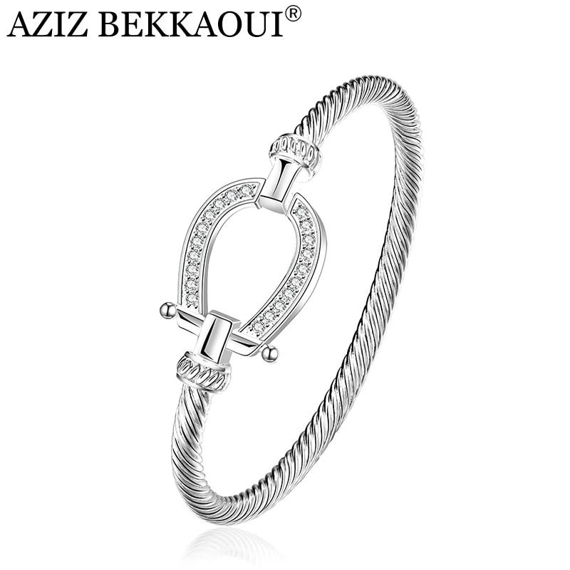 Drop shipping Fashion Silver Rhinestone Wrap Cuff Bracelets Horseshoe  Bangles For Women Brand Designer Jewelry Valentine 5e564abf79a2