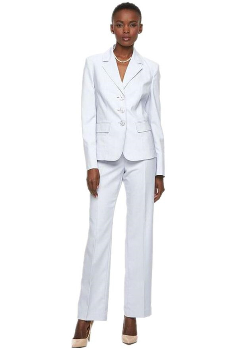 White Women's PantSuits Ladies Business Office Tuxedos Formal Work Wear Suits Custom Made Women's Suits