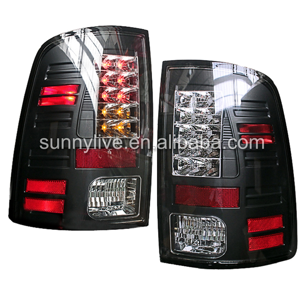 For Dodge Ram 1500 LED Tail Lamp 2011-2014 year SONAR Style Black Colo ...