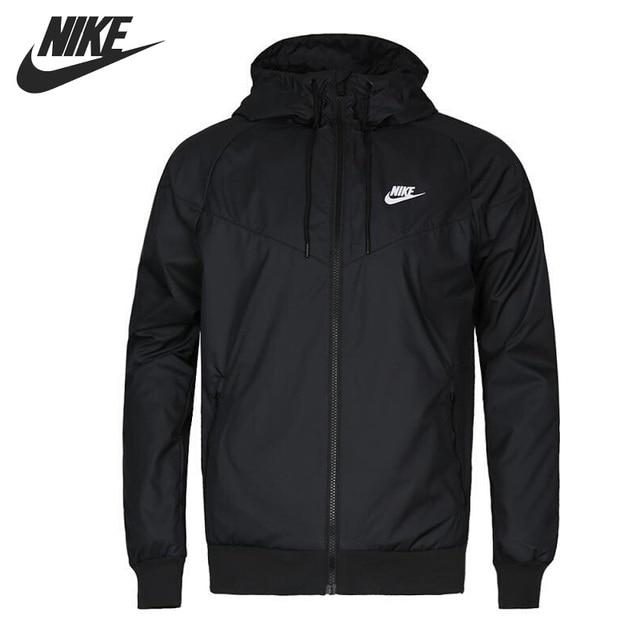 Original nueva llegada 2018 de los hombres NIKE tejido chaqueta con capucha  ropa deportiva 324cd7df362f5