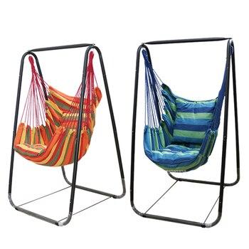 Moda Hamak Ev Balkon Kapalı Bahçe Yatak Odası Asılı Sandalye Çocuk Yetişkin Salıncak Tek Koltuğu Braketi ile 150 cm