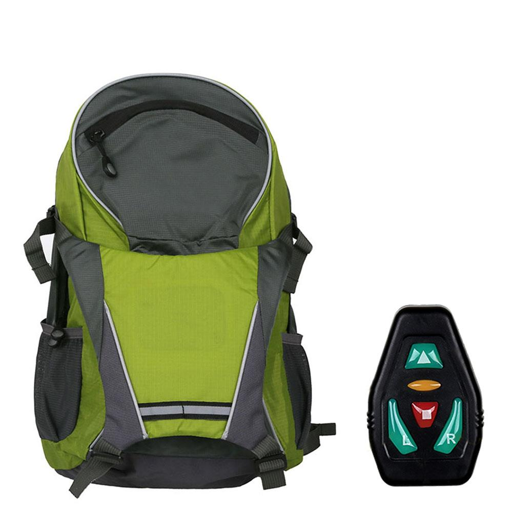 18L Remote Control 30LED Reflective Cycling Backpack Large Capacity Bicycle Bag with Safety Turn Signal Vest