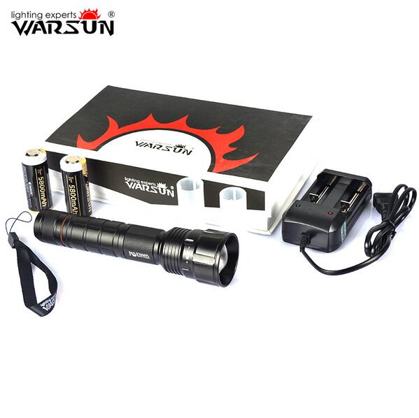Warsun X80 Powerful LED flashlight Rechargeable Waterproof XHP50 2500lm 5-Mode White Light Zoom LED Flashlight Kit ( 8.4V ) adjustable focus zoom 3 mode 600lm white led waterproof flashlight black 3xaaa