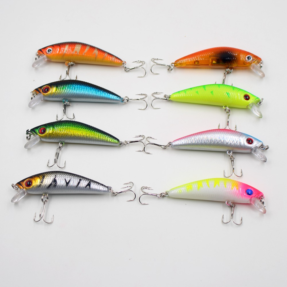 Hot sell new Cheap 1PCS Artificial Colorful carp with 3D eyes Hard curve Crank lures simulation