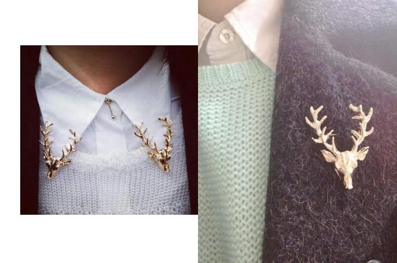 European and American vintage jewelry brooch Peacebird horned elk deer head deer brooch men and women free shipping|deer brooch|vintage jewelry brooch|jewelry brooch - AliExpress