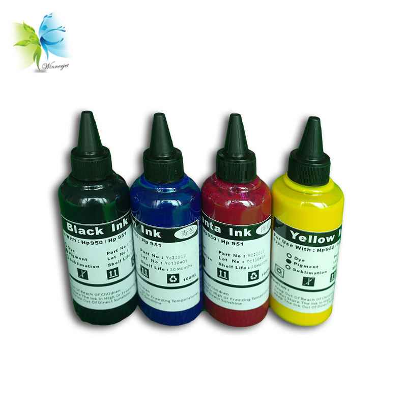 Winnerjet 100ml 4 Colors for <font><b>HP</b></font> <font><b>652</b></font> ink cartridge for <font><b>HP</b></font> Deskjet 1115 1118 2135 2136 2138 3635 3636 Replacement Dye Ink image