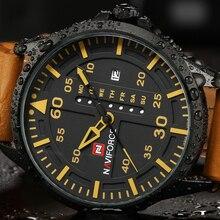Naviforce люксовый бренд мужчины военный часы мужские кварцевые часы дата человек кожаный ремешок наручные спортивные часы relogio masculino