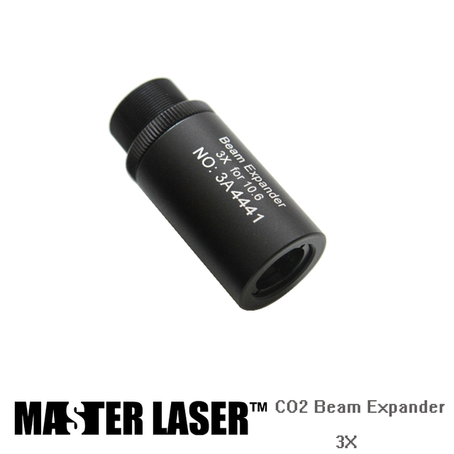 3 Times CO2 Galvo  System Beam Expander Screw M22*0.75 marking machines laser beam expander