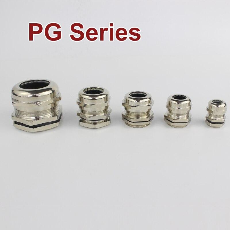 1 Piece PG7 PG9 PG11 PG13.5 PG16 Nickel Brass Metal IP68 Waterproof Cable Glands Connector Wire