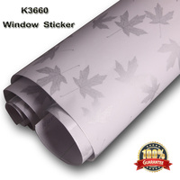 Maple leaf Scrub Frosted Self-adhesive Window Film Sticker Privacy Frost Home Bedroom Bathroom Glass Wholesales 1.22mx40m