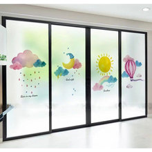 Star moon window Glass Film Stickers Custom size Frosted Privacy Self-Adhesive bathroom kitchen Sliding door decorative films