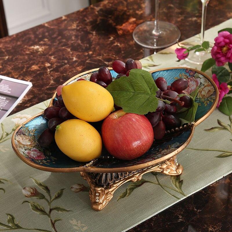 Большой фрукты, украшения Роскошные American Retro ремесла Ювелирные украшения домашнего интерьера гостиной журнальный столик