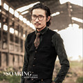 Men Autumn Vest Solid Single Breasted Vintage Fashion Formal Vest For Man Cotton England Style Slim Fit Suit Vest A2921
