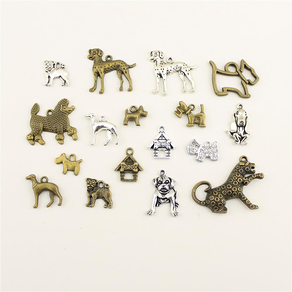 10 pçs moda jóias fazendo animal filhote de cachorro jóias achados componentes pingente charme