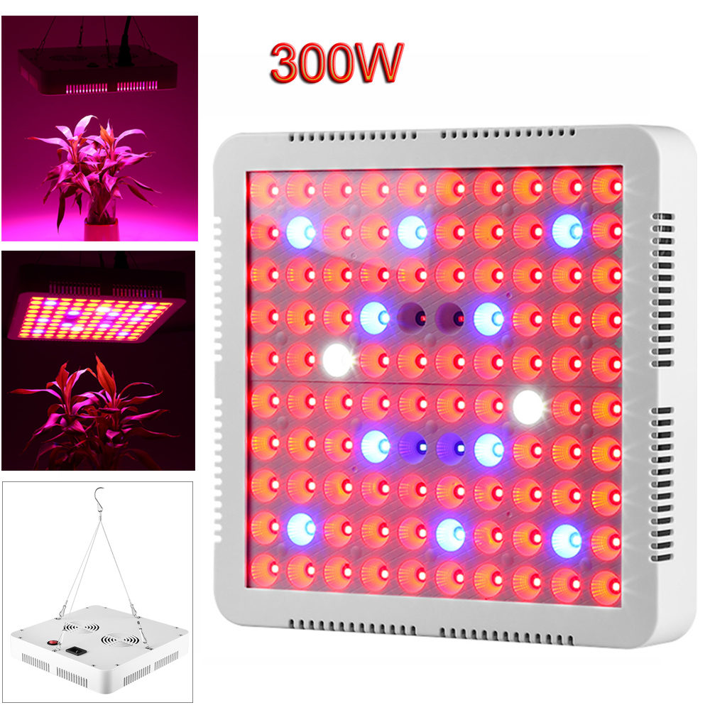 LED Grow Light Phyto Lamp 300W 50W 45W 10W 5W Full Spectrum for Indoor Greenhouse Grow Tent Plants Grow Led Light Dropship цены
