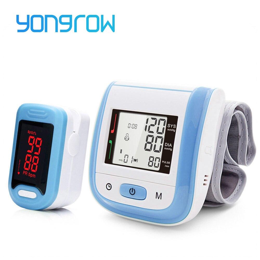 Yongrow Médica Digital Pulso Monitor de Pressão Arterial e LEVOU Presente de Cuidados De Saúde Oxímetro de Pulso Portátil de Dedo Família Spo2 PR