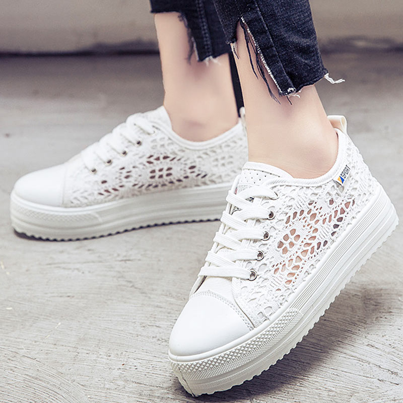 Trainers Women Sneakers Summer Air Mesh Breathable Canvas Shoes White Sneakers Platform Shoes zapatos de mujer Plus Size 42Trainers Women Sneakers Summer Air Mesh Breathable Canvas Shoes White Sneakers Platform Shoes zapatos de mujer Plus Size 42
