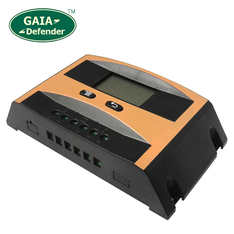 60A Solar Panels Charge Controller,PWM Regulator, DC12V 24V auto, LCD display