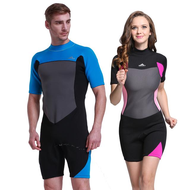 Sbart 2mm Shorty Wetsuit Premium Neoprene Wetsuits Short Sleeve Spring Snorkeling, Swimming for Men Women Suit for Scuba Diving,