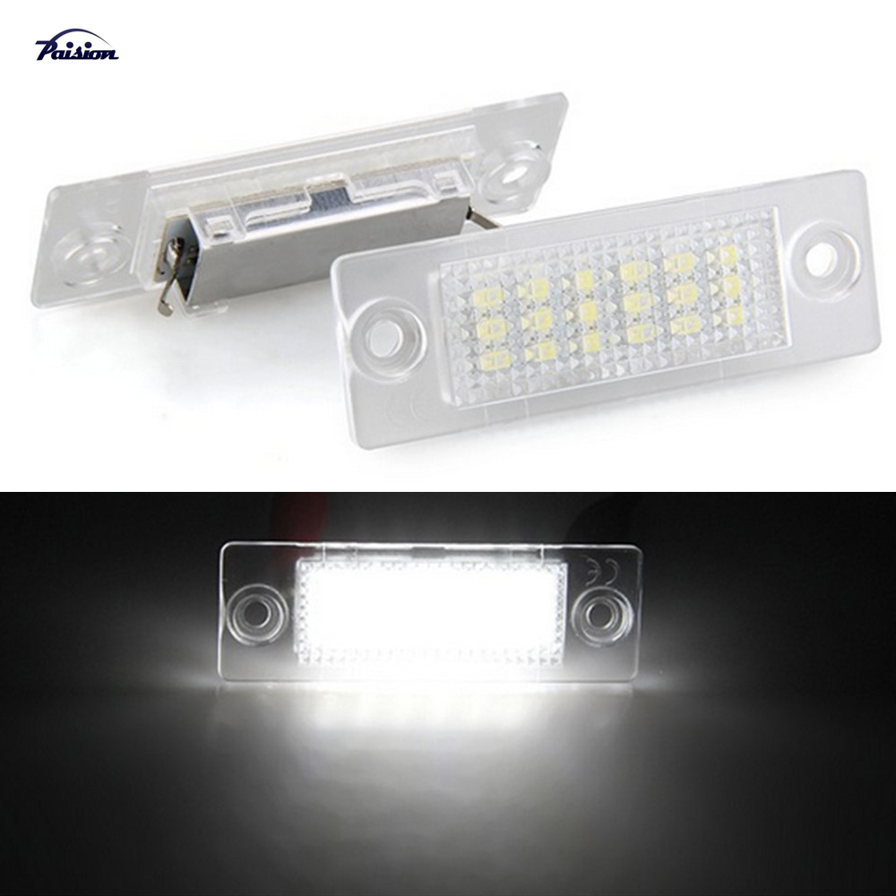 Detail Feedback Questions about LED Number License Plate Lights Lamp for VW  Caddy Golf 5 Plus Jetta Touran Passat B6 Wagon Passat B5.5 Sedan Transporter  T5 ... 1883df3f1509