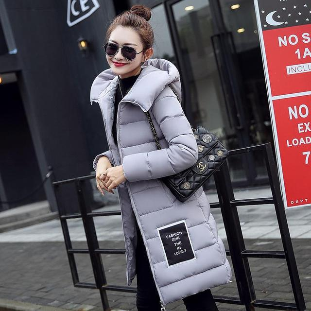 New Fashion Down Parkas Warm Winter Coat Women Light Thick Winter Hooded Elegant Casual Long Sleeve Jackets Female Coat