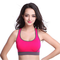 2016 Professional Sexy Women Sports Bra Stretch Athletic Brassiere Push Up Bras Seamless Padded Running With
