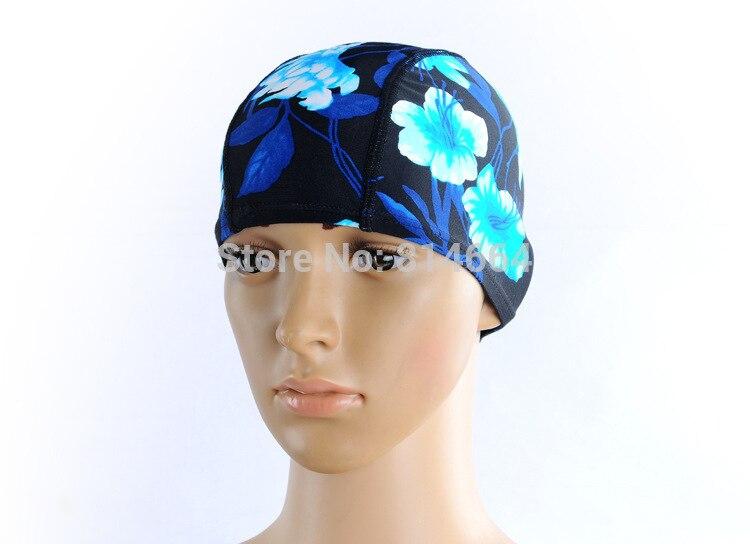 Free size Waterproof PU Fabric Protect Ears Long Hair Sports Siwm Pool Swimming Cap Hat Free size for Men & Women Adults