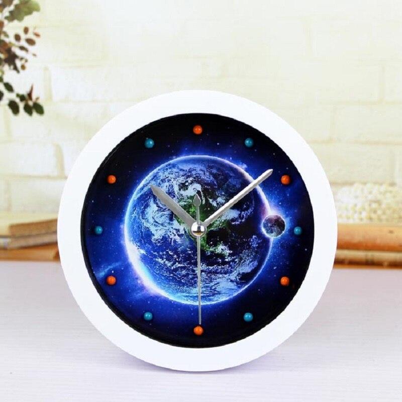 3D al fajr clock retro relogio de madeira reloj alarm home decor wood wooden watches saat table