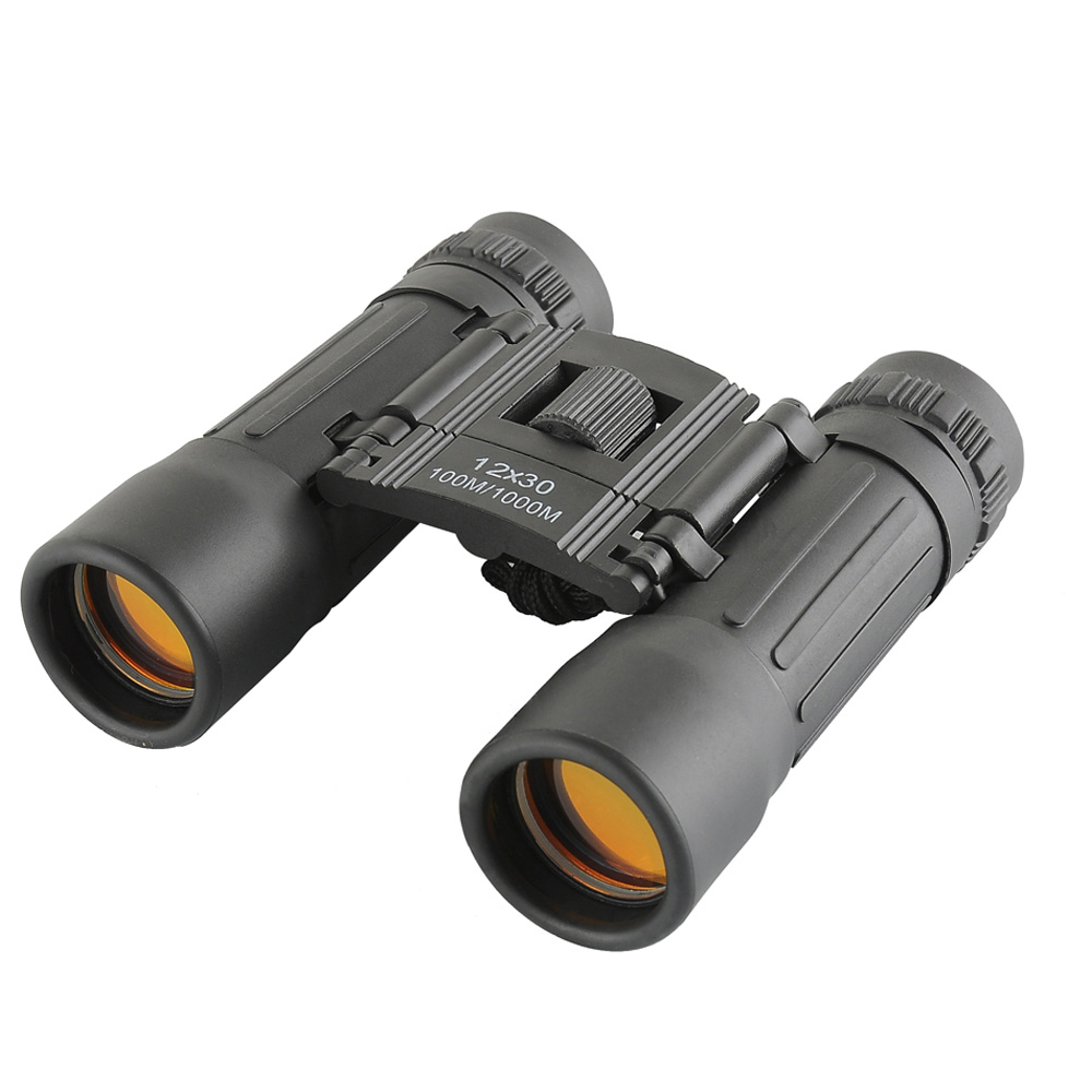 Cheap Hd Wide Angle Binoculars Telescope 12x30portable Red Membrane Optics Binocular Hunting