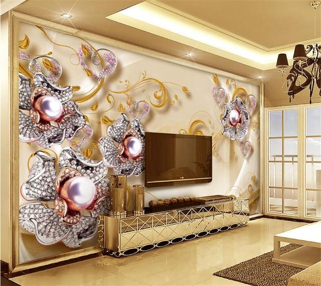 Beibehang Custom Wallpaper Hd Jewelery Diamond Silver Silver