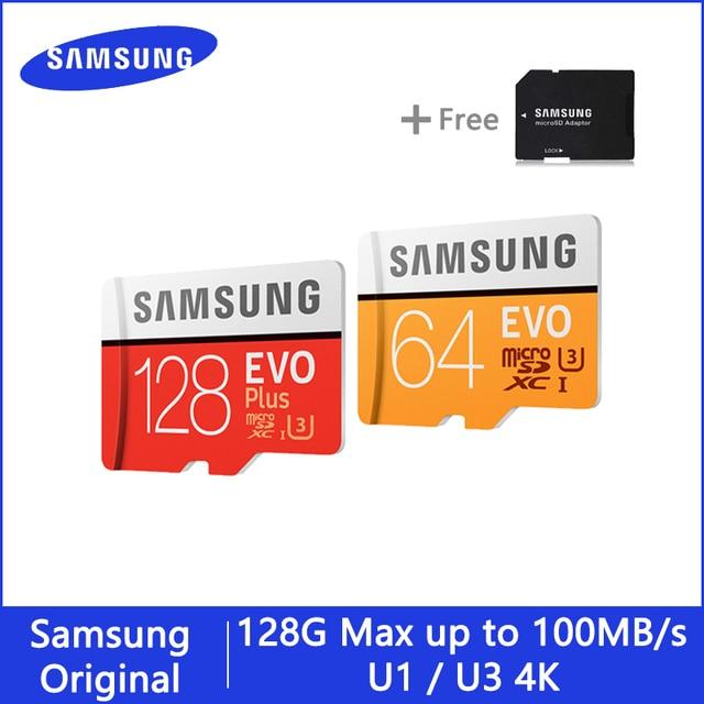 SAMSUNG Thẻ Microsd 256G 128 GB 64 GB 32 GB 16 GB 8 GB 100 mb/giây Class10 U3 U1 thẻ Nhớ Thẻ Micro SD Thẻ TF Flash Thẻ