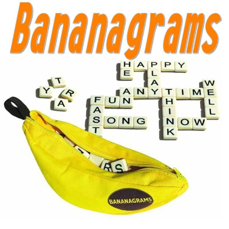 Banana chess letter Spelling games toy learn English Word ABC Puzzle Toy Children Educational Toys Fun game go games word search