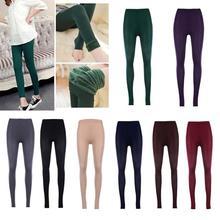 Women Winter Warm Leggings Elastic High Waist Slim Plus Size Velvet Thicken Warm Legging Thick Trousers