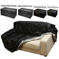 Садовая мебель водонепроницаемый чехол от дождя Оксфорд плетеный диван защита набор сад патио Дождь Снег пылезащитный черный Чехлы
