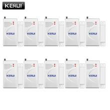KERUI 10 pz/lotto Senza Fili per Porte E Finestre Sensore di 433MHz di Sicurezza Smart Gap Porta Sensore Rilevatore di Allarme per la Casa di Allarme di Sicurezza sistema di
