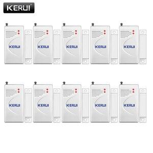 Image 1 - KERUI 10pcs/lot Wireless Door Window Sensor 433MHz Security Smart Gap Sensor Door Alarm Detector for Home Security Alarm System