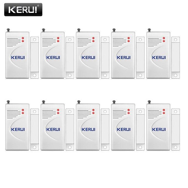 KERUI 10pcs/lot Wireless Door Window Sensor 433MHz Security Smart Gap Sensor Door Alarm Detector for Home Security Alarm System