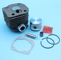 Cylinder Piston Kit (50mm) w/ Gasket For Husqvarna 365 371 372 362 Chainsaw Needle Bearing Cage Nikasil Plated Replacement Parts