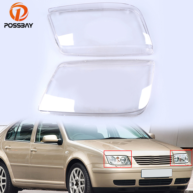 POSSBAY Car Headlight Lenses Cover for VW Bora/Variant/4 Motion 1999 2005 Car Styling Clear Lamp Shell Head Light Replacement