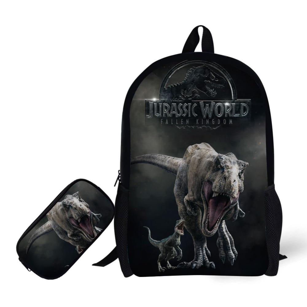 "13-16/""Jurassic World Movie Dinosaur Park Backpack School Book Bag Kids Rucksack"