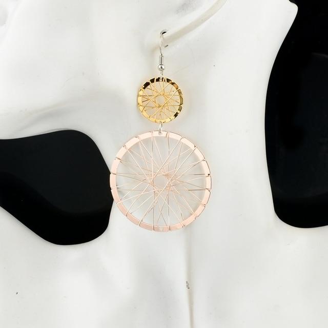 Фото chicvie этнические круглые серьги капельки для женщин золотого цена