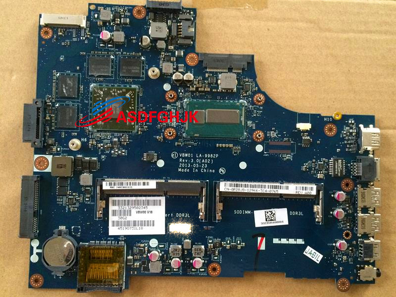 FOR Dell Inspiron 5537 LAPTOP Motherboard WITH I7-4500U P28J8 CN-0P28J8 0P28J8 LA-9982P 100% TESED OK